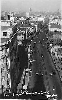 No 3144 George St Sydney (at town Hall looking south after (?) railway works)