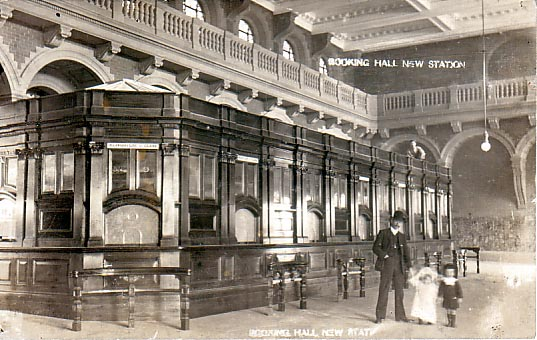 Original wooden booking hall 1906.