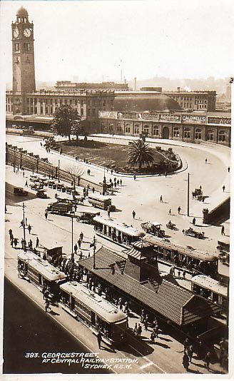 View from Railway Square c1921.