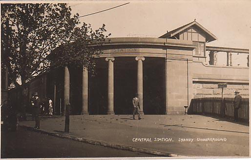 Eastern entrance to electric platforms c1926. Samuel Wood