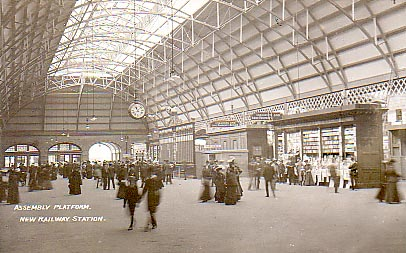 The assembly area - main concourse - in c1906.