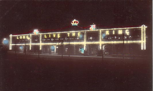 Night view Eddy Avenue Coronation lights 1911.