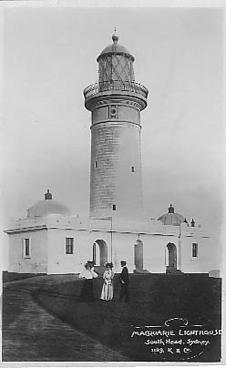 Kerry card of Macquarie Lighthouse c1909