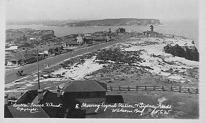 Carlton - North view from Lighthouse showing Harbour entrance and Signal Station c1929