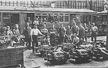 Electrical Section Randwick Tramway Workshops c1910